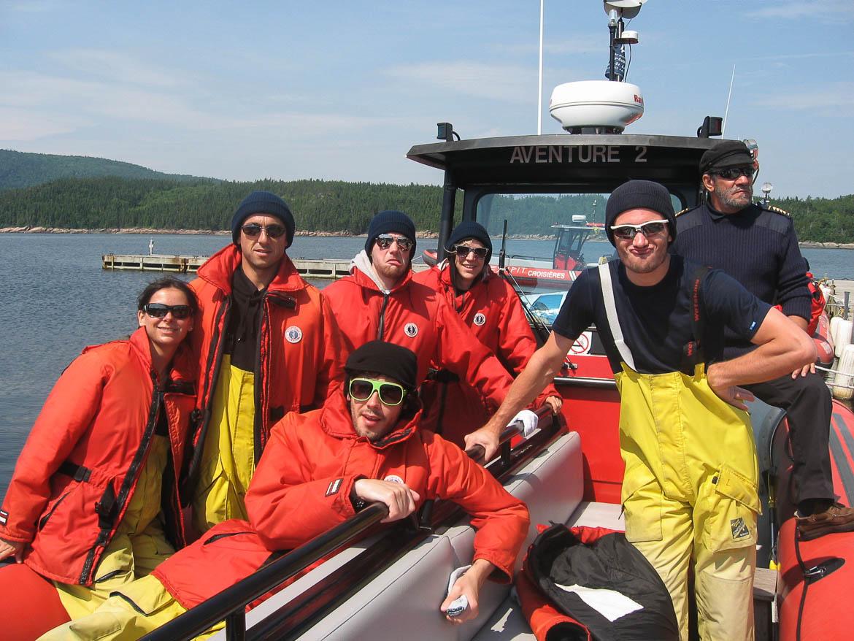 En route pour aller voir les baleines à Tadoussac (voyage à 7)