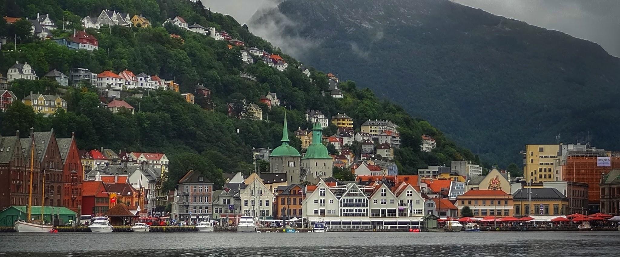 Sur les rives de Bergen en Norvège