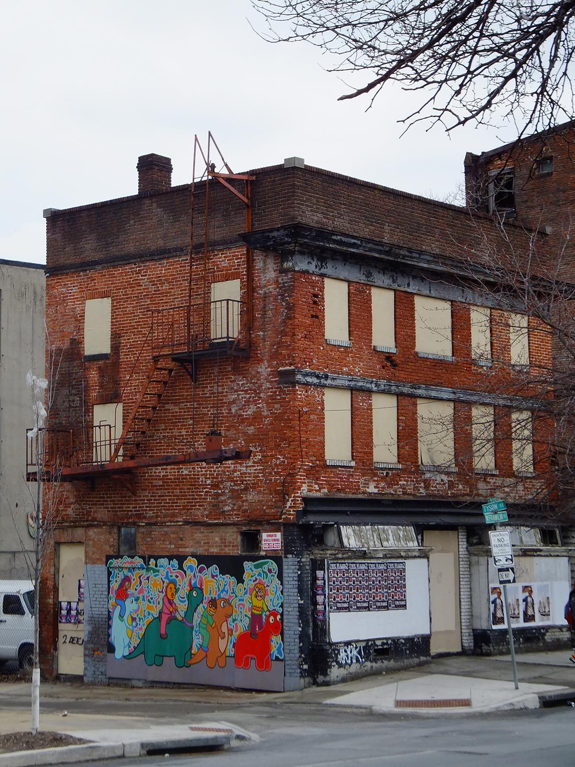 Immeuble abandonné non loin du centre ville