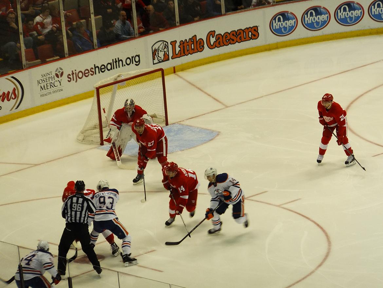 Match de Hockey : Detroit RedWings - Edmonton Oilers