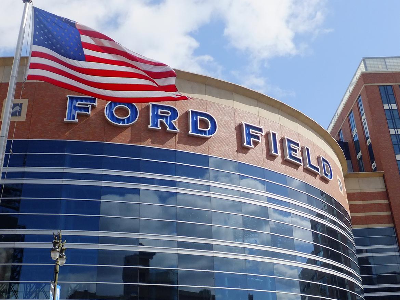 Ford Field Stadium : Stade de l'équipe de Foot Us des Detroit Lions