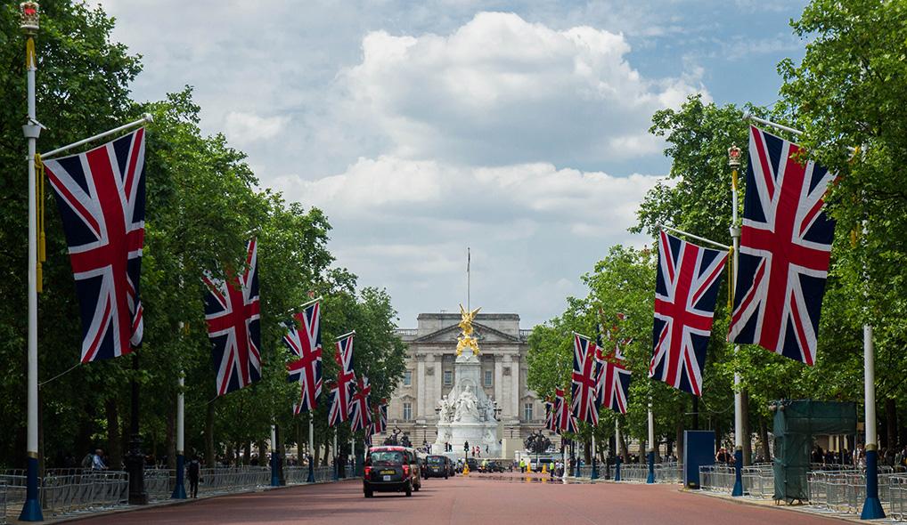 The Mall et vue sur Buckingham Palace