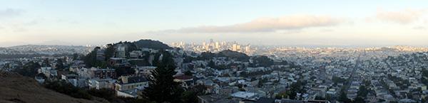 San Fransisco vue depuis Twin Peaks