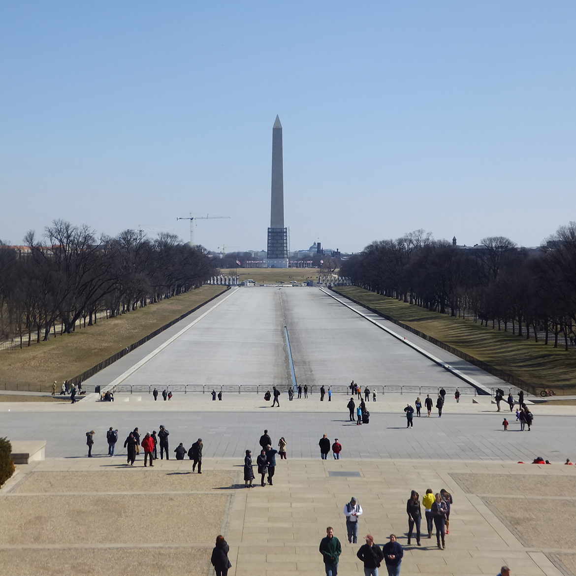 Le Washington Monument et sa Reflecting Pool (Vide)