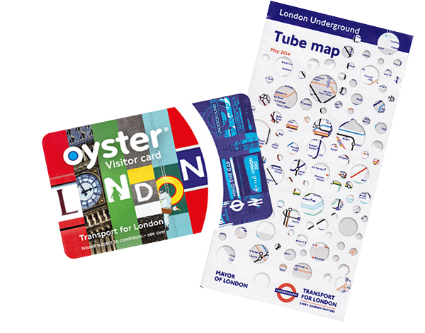 Oyster Card and tube map London