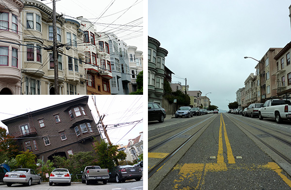 Les rues pentues de Russian Hill