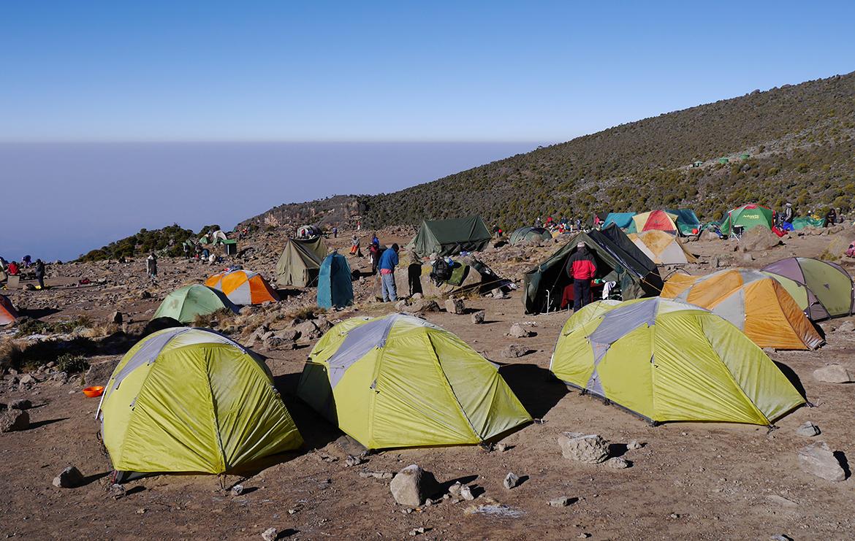 Campement pour la nuit