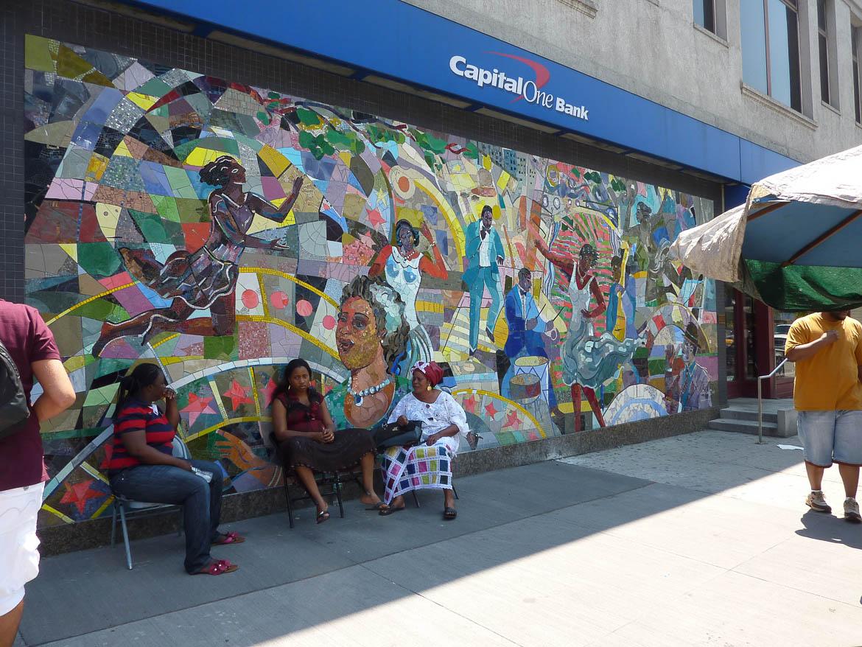 Scène de rue dans Harlem