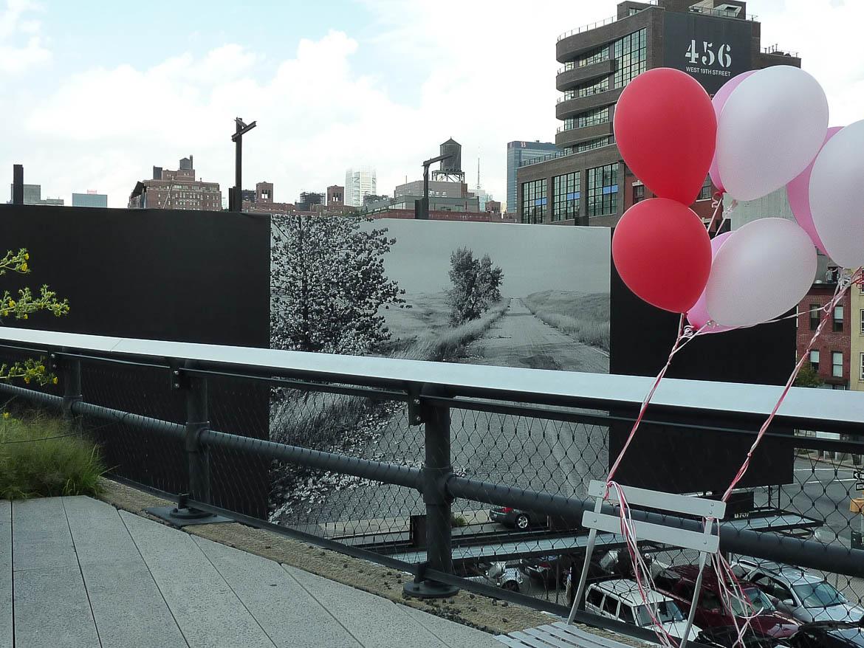Ballons sur la High Line