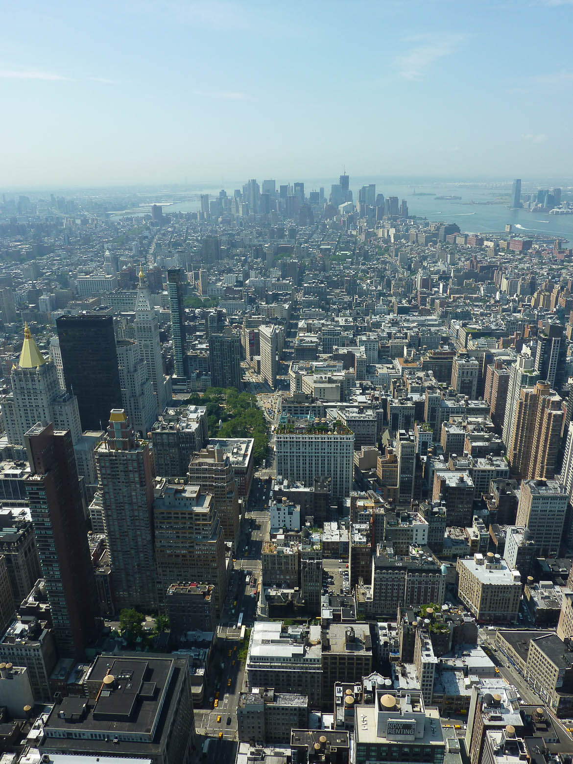 Vue sur Downtown Manhattan depuis l'Empire State Building