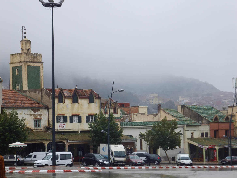 Azrou, sous la pluie