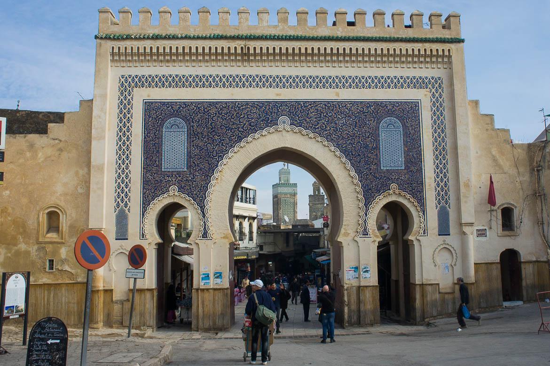 Bab Bou Jeloud : l'entrée dans la Médina de Fez