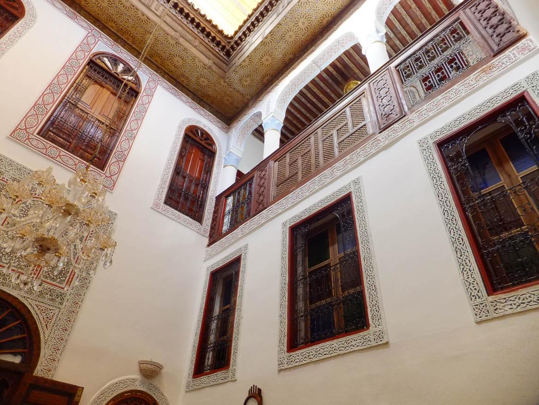 Intérieur du riad de Khadija