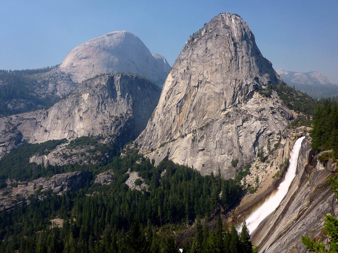 Half Dome et Nevada Falls