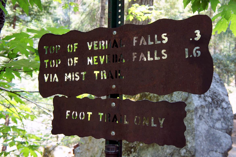 En route pour le Mist Trail