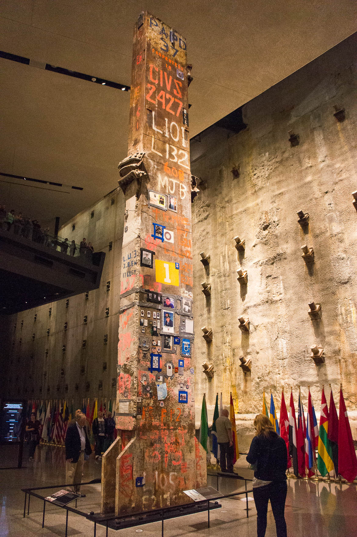 Dernière colonne de la tour sud du World Trade Center