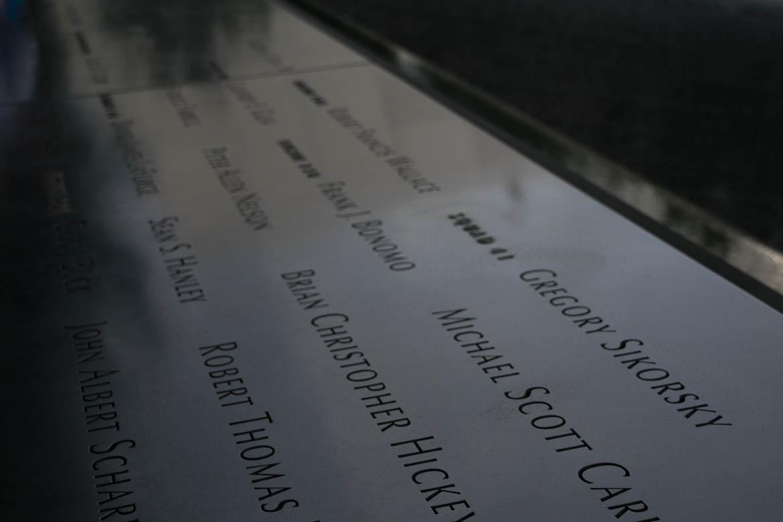 Victimes du 11 Septembre le long des bassins