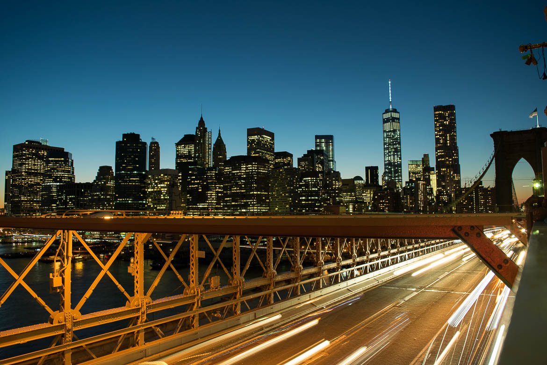 Skyline depuis le Brooklyn Bridge - New York
