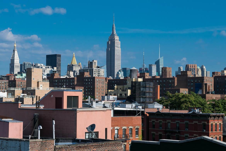 Vue sur l'Empire State Building depuis le rooftop de notre immeuble - New York