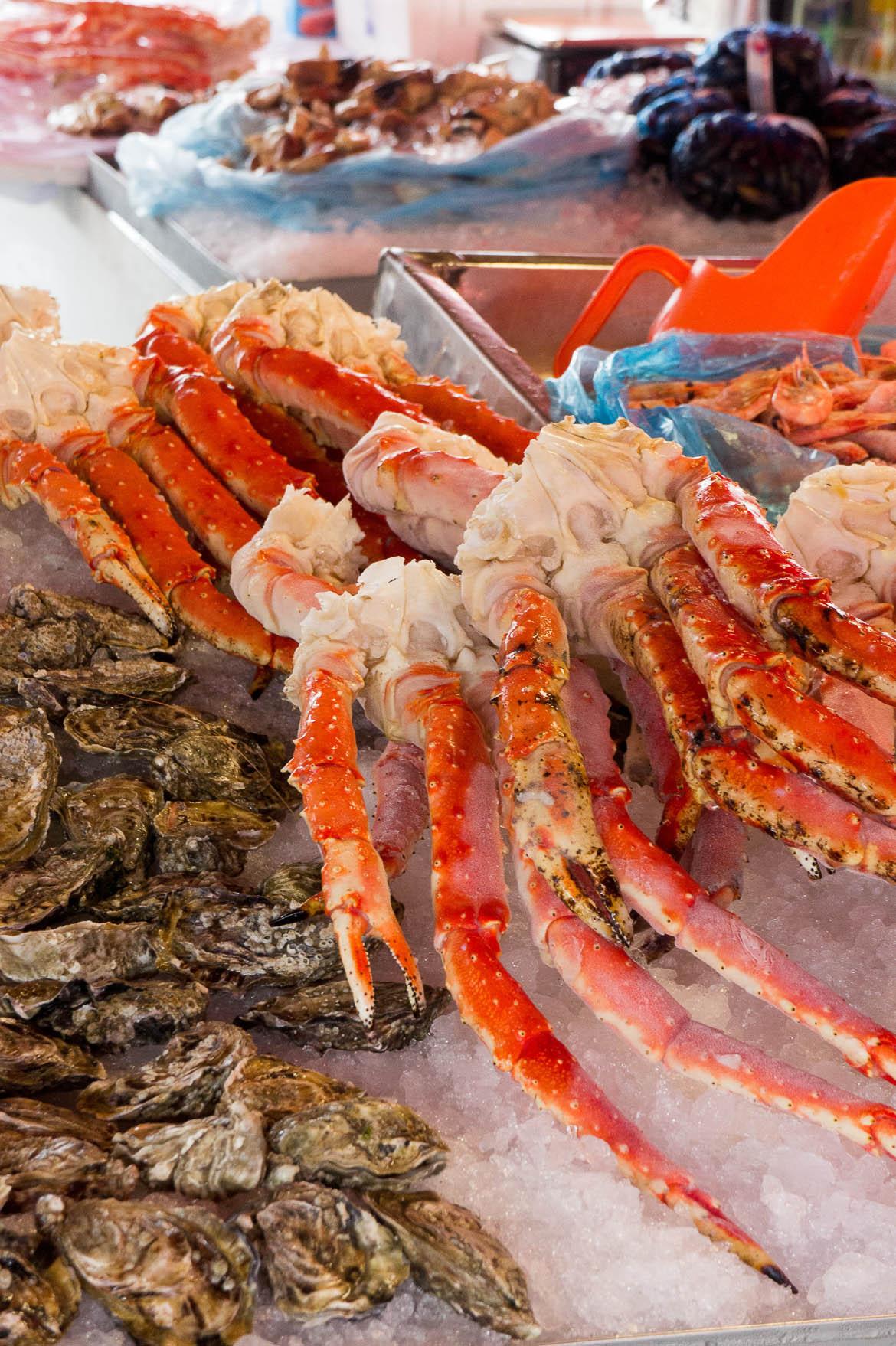 Fruits de mer du marché aux poissons de Bergen