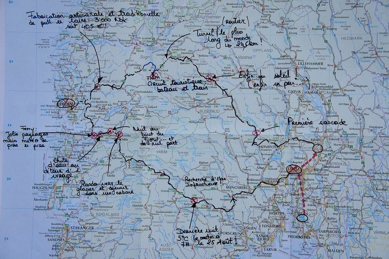 Notre parcours en Norvège et en camping-car