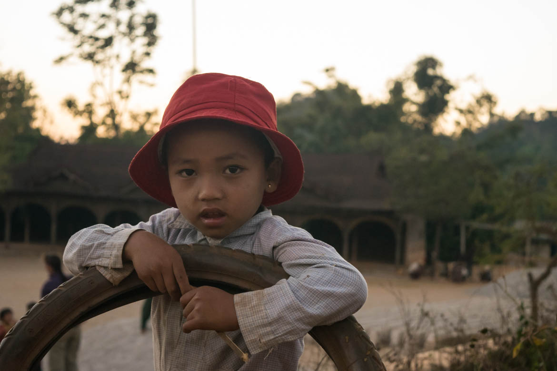 Petite birmane que nous avons rencontrée lors de notre trek