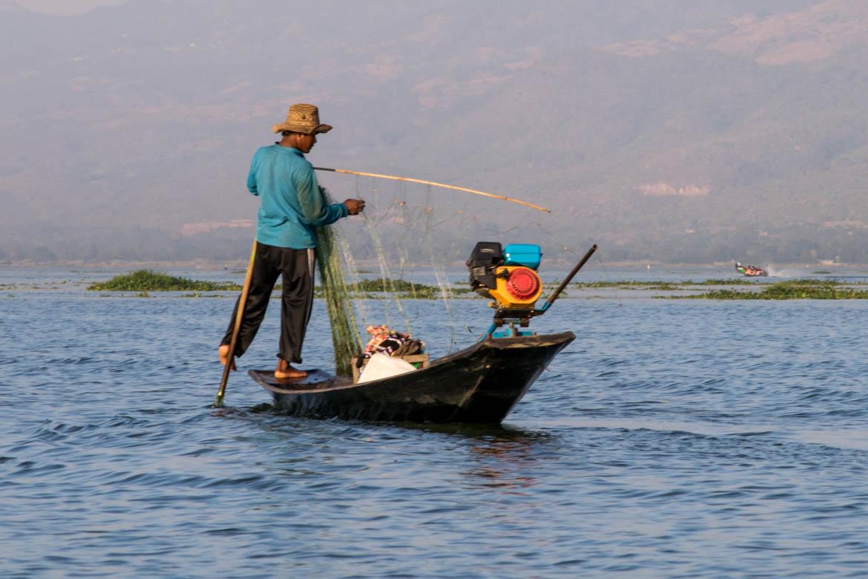 Pêcheur en plein travail