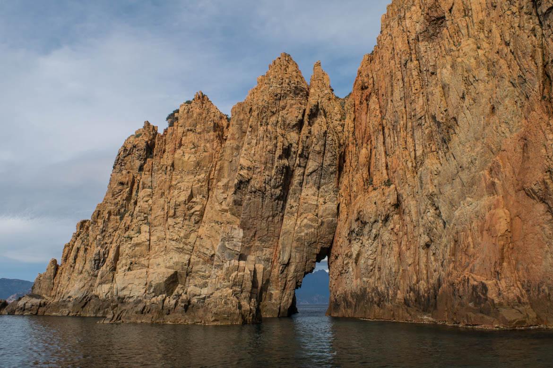 Calanches de Piana vue de la mer