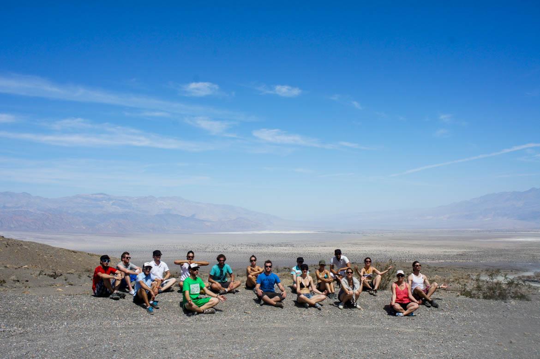 Notre groupe de 17 à Death Valley