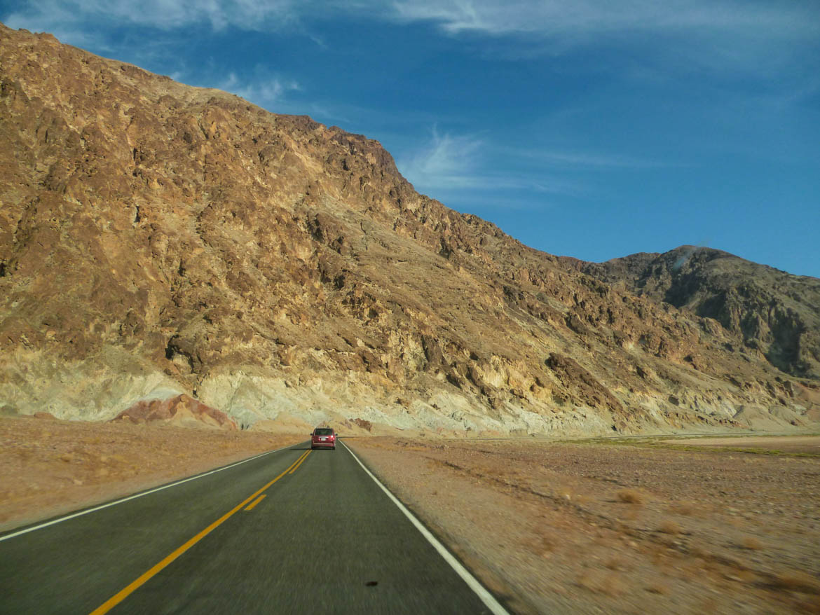 sur la route de Death Valley