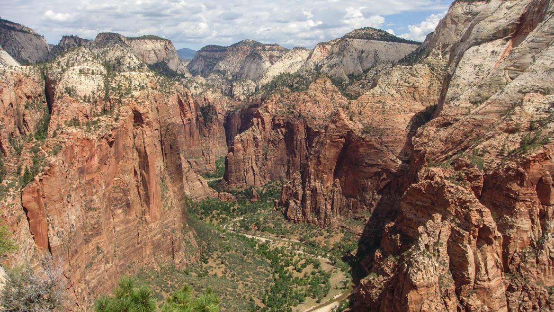 Zion : Vue sur le canyon