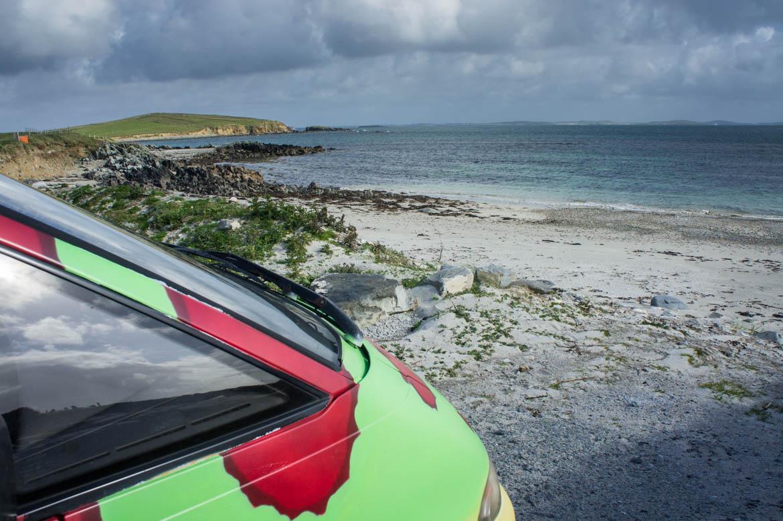 Le long des plages du Connemara
