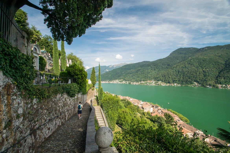 Dans les ruelles de Morcote - Lac de Lugano