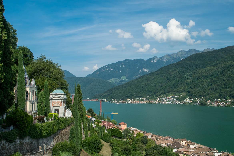 Morcote, le long du cimetière - Lac de Lugano
