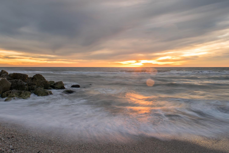Coucher de soleil sur Turner Beach, Sanibel, Floride
