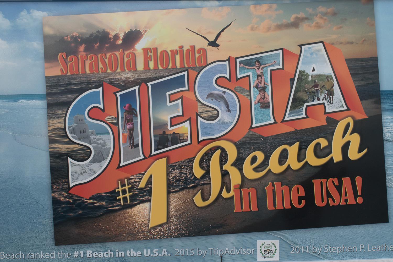 Panneau Siesta Beach, Floride