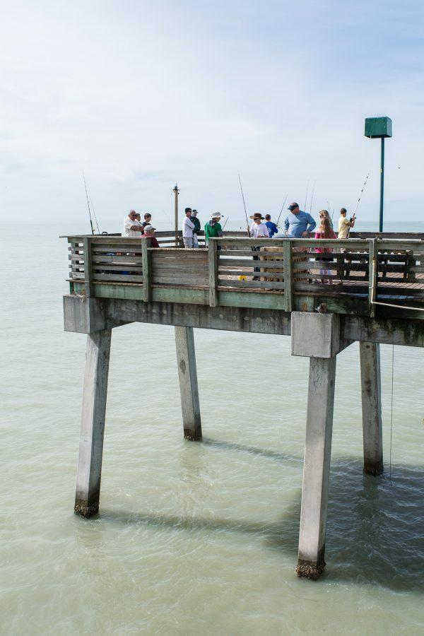 Jetée de Caspersen Beach, Floride, USA