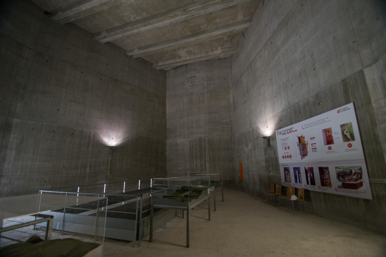 A l'intérieur du P2 du Viaduc de Millau