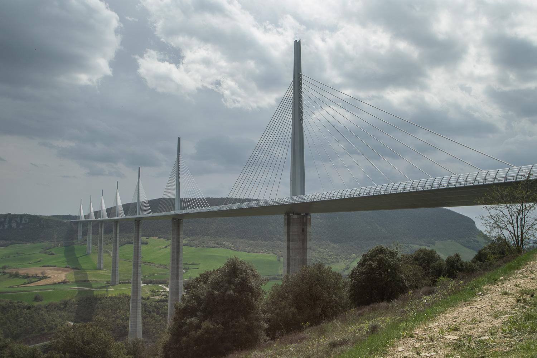 Vue sur le Viaduc de Millau