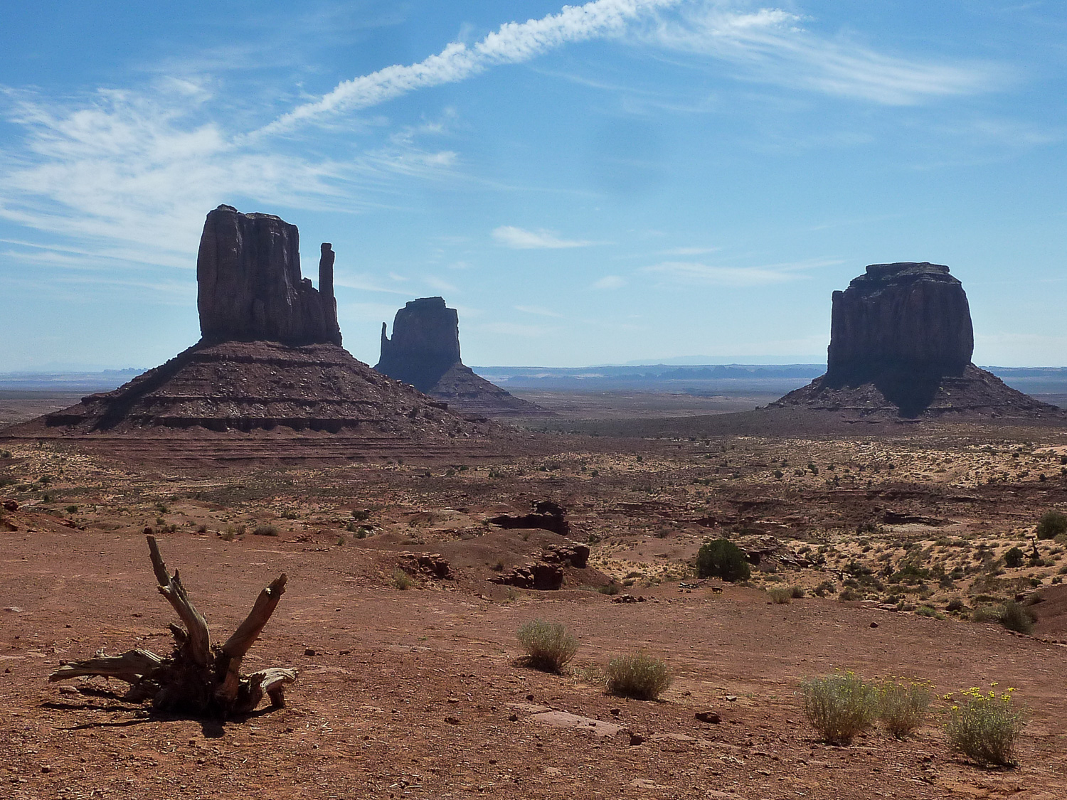 Les 3 buttes de Monument Valley