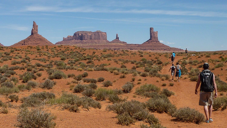 Départ du Wildcat Trail, Monument Valley