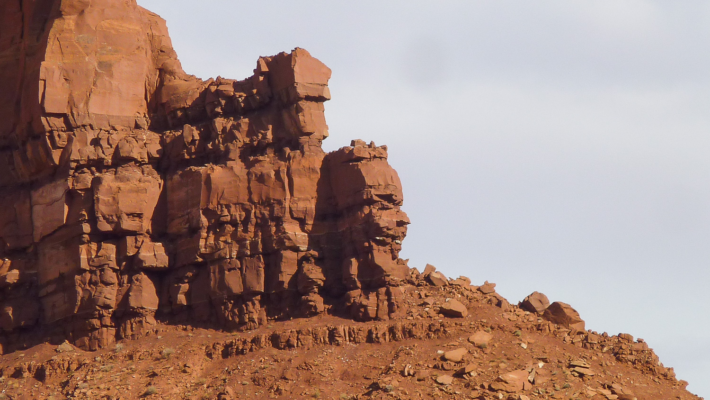 Roche en forme de visage, Monument Valley