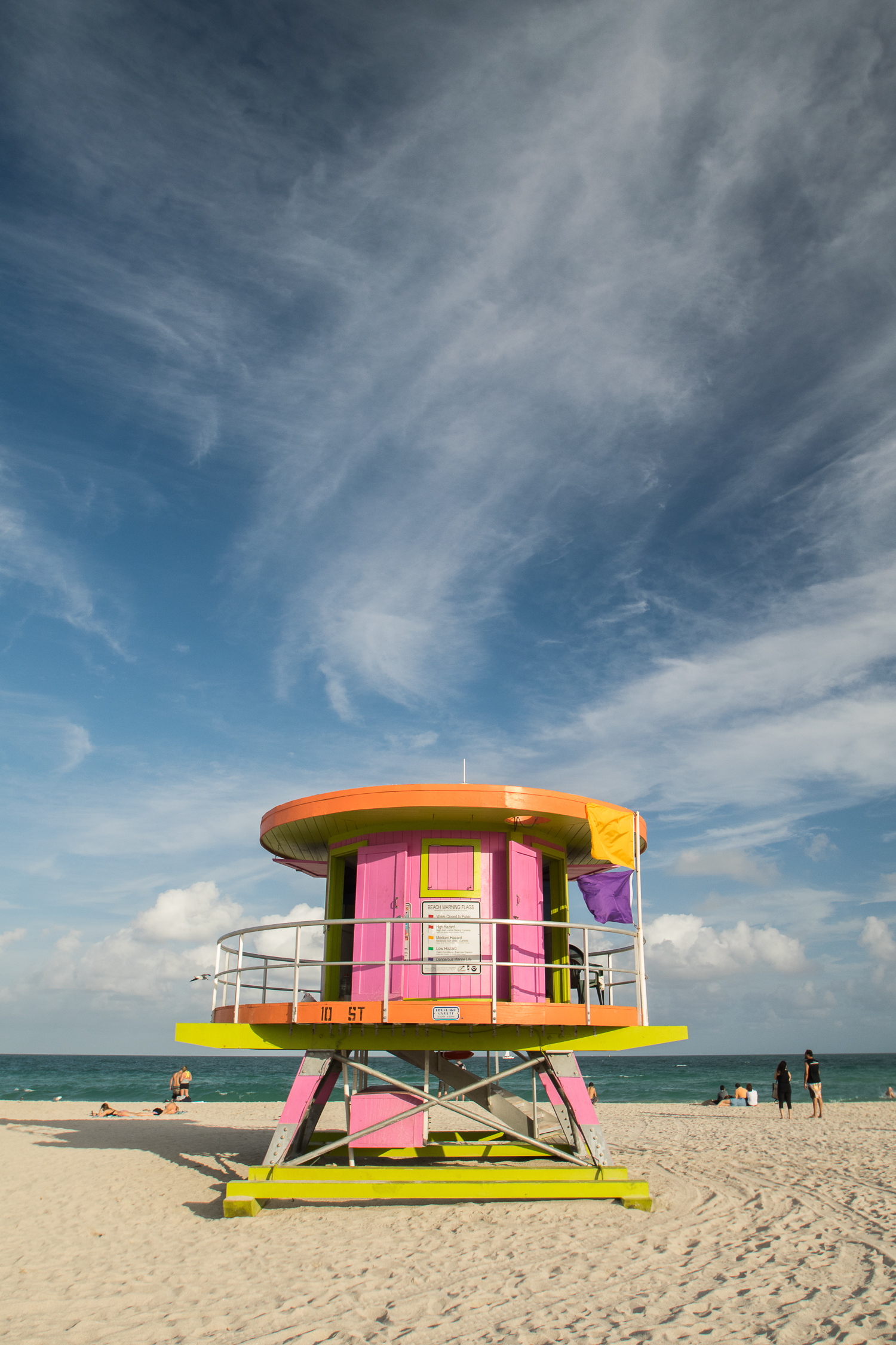 Cabane de Lifeguard sur South Beach, Miami
