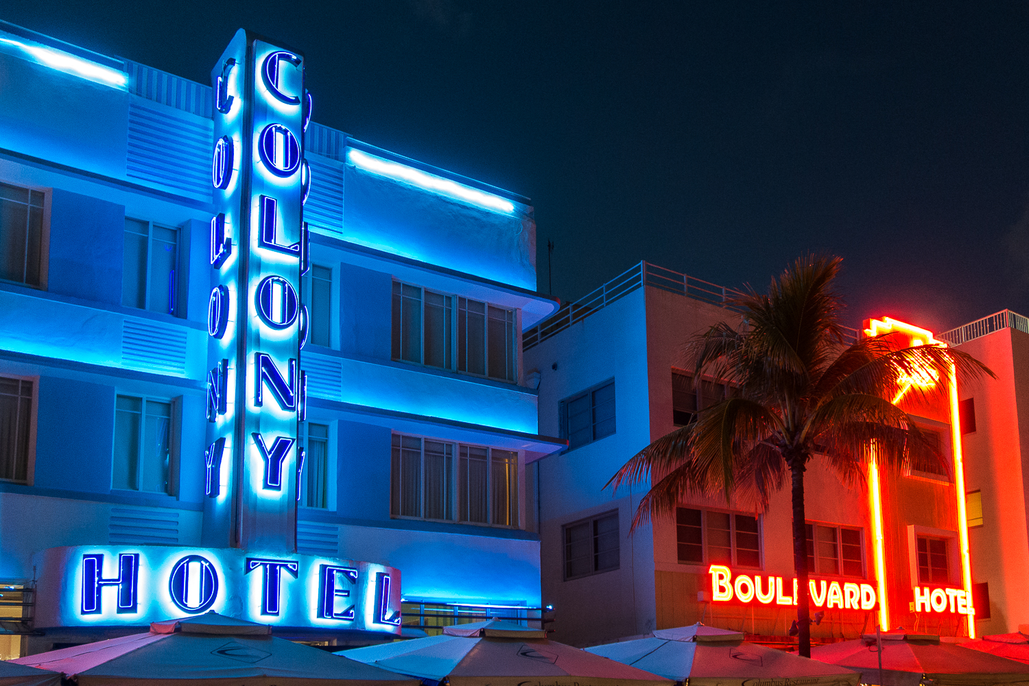 Les bâtiments Art Deco de South Beach à Miami