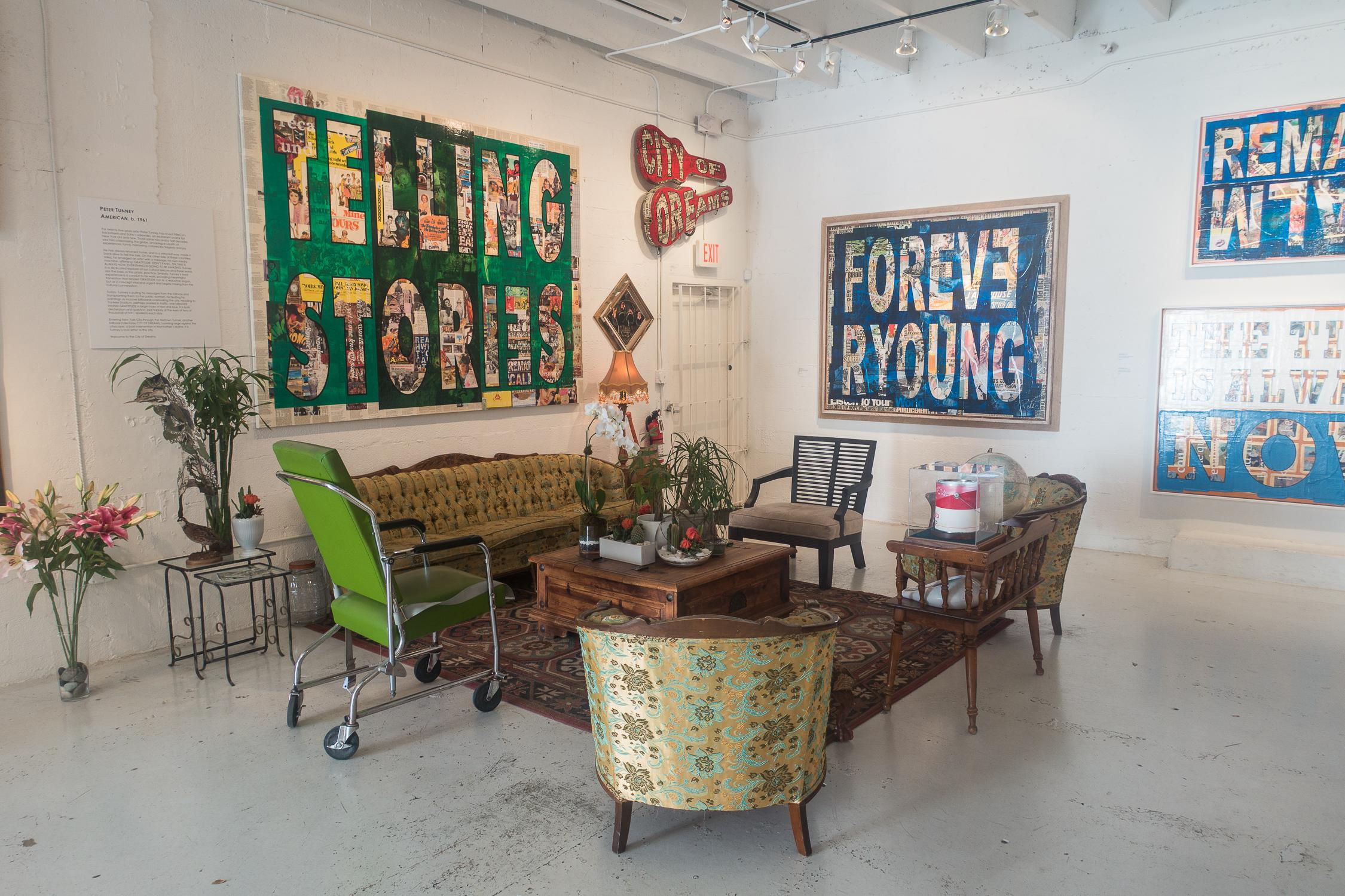 Galerie branchée du quartier de Wynwood à Miami, Floride