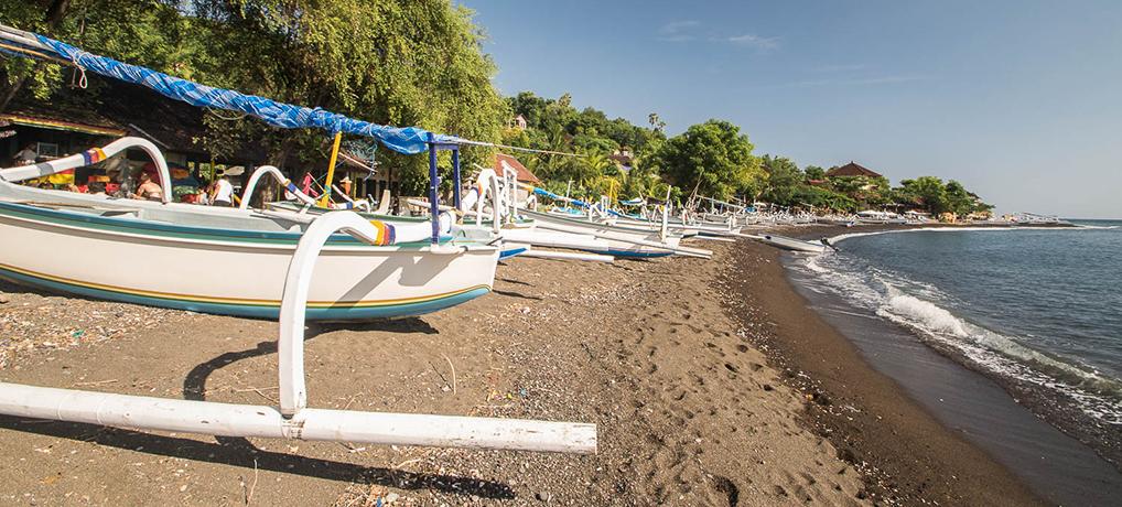 Bateaux traditionnels balinais à Amed, Bali