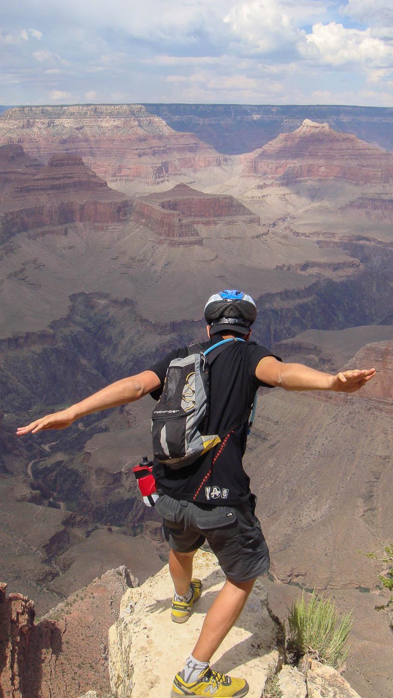 Balade en vélo depuis la rive sud du Grand Canyon