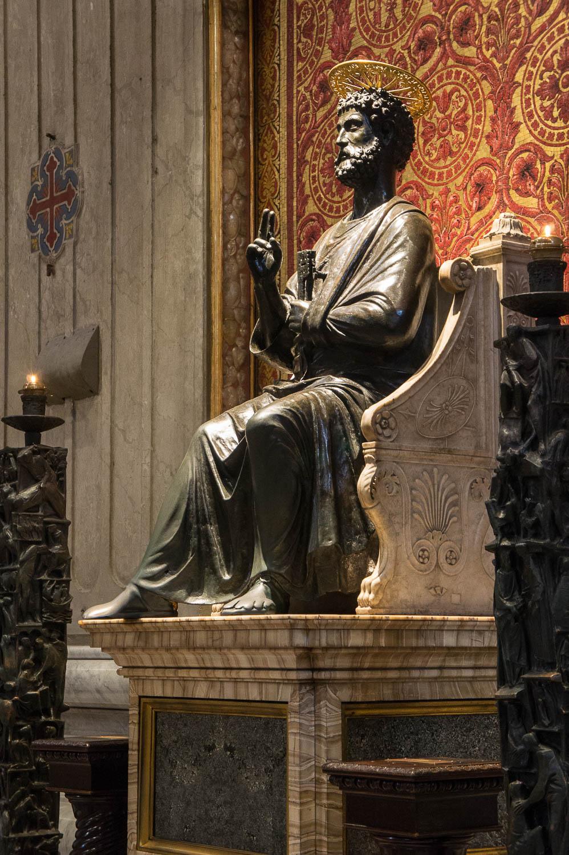 Dans la basilique Saint-Pierre, Rome