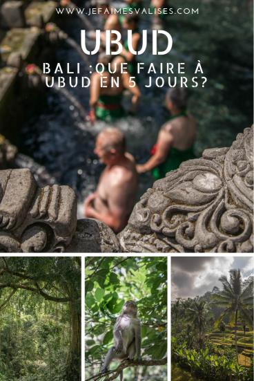 Bali : Que faire à Ubud en 5 jours?