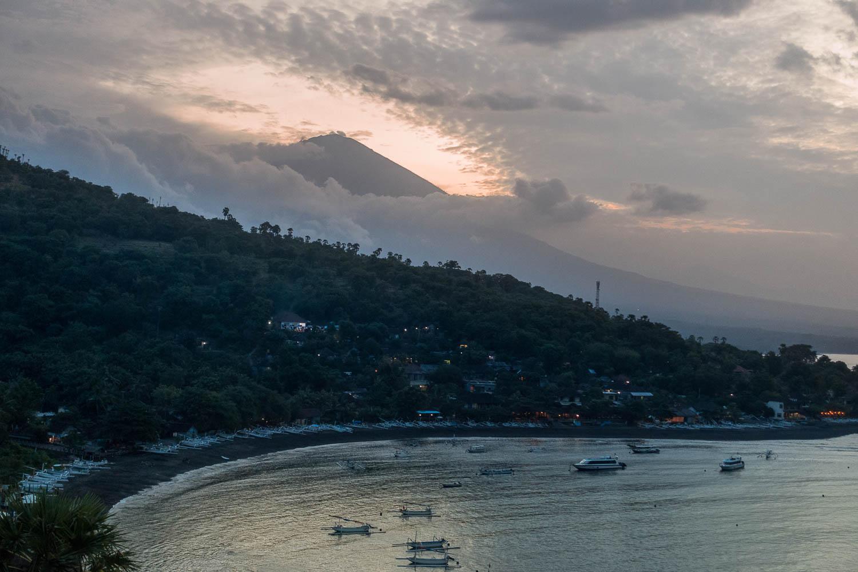 Sunset sur la plage d'Amed, Bali